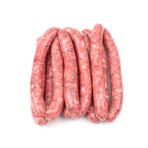 Salchichas elaboradas con carne de cerdo ibérico