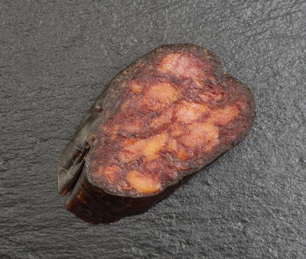 Rodaja morcilla picante